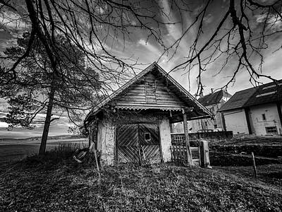 Photograph - Spooky Cottage In Black And White by Elenarts - Elena Duvernay photo