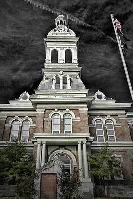 Photograph - Spooky Courthouse by Sharon Popek