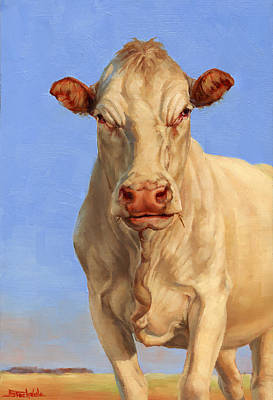 Painting - Spooky Cow by Margaret Stockdale