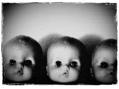 Photograph - Spooky Doll Heads 2 by Patricia Strand