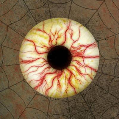 Bloodshot Digital Art - Spooky Eyeball by Brandi Fitzgerald