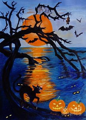 Painting - Spooky Hollow - Painting by Veronica Rickard