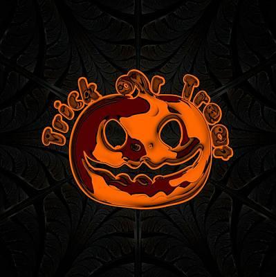 Digital Art - Spooky Jack-o-lantern by Anastasiya Malakhova