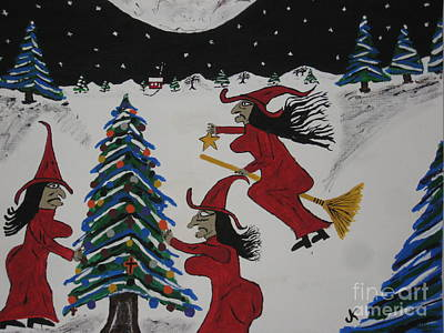 By Jeff Koss Painting - Spooky Merry Christmas by Jeffrey Koss