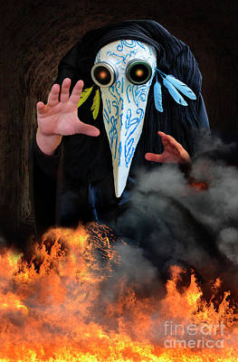 Photograph -  Plague Doctor by Bob Christopher