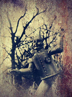 Spooky Tin Man Wizard Of Oz Art Print