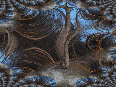 Suggestive Photograph - Spooky Tree-halloween Gesture by Skyler Tipton