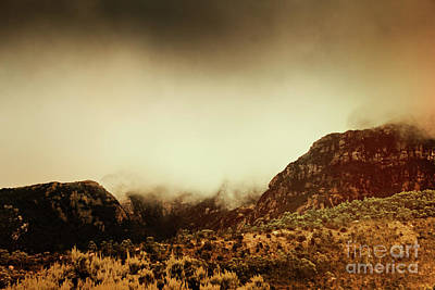 Forecast Photograph - Spooky Vintage Mountain Scene by Jorgo Photography - Wall Art Gallery