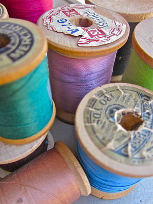 Photograph - Spools Of Thread by Gwyn Newcombe
