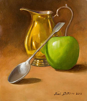 Silver Painting - Spoon And Creamer  by Joni Dipirro