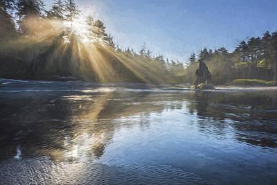 Olympic National Park Digital Art - Spoon Of Morning Light II by Jon Glaser