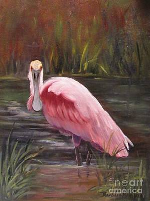 Painting - Spoonbill Roseate Bird by Barbara Haviland