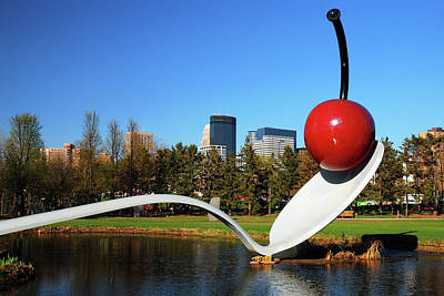 Photograph - Spoonbridge At Minneapolis Museum Of Art by James Kirkikis