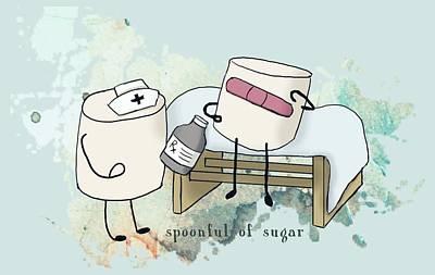 Digital Art - Spoonful Of Sugar Words Illustrated  by Heather Applegate