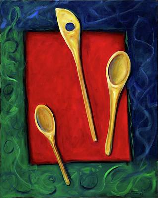 Painting - Spoons by Shannon Grissom