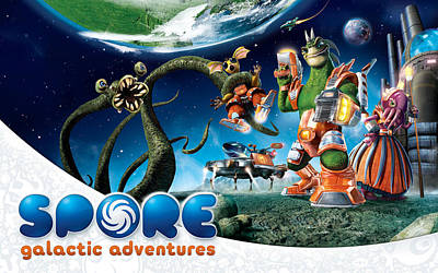 Spores Digital Art - Spore Galactic Adventures Game by F S