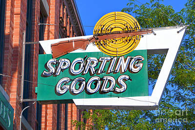 Photograph - Sporting Goods Sign by Catherine Sherman
