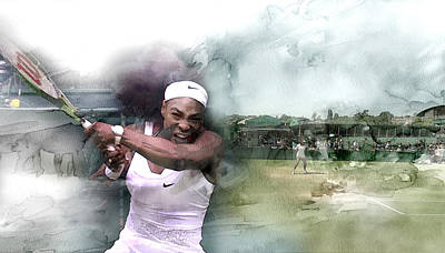 Venus Williams Painting - Sports 18 by Jani Heinonen