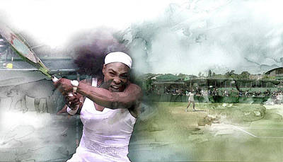 Serena Williams Wall Art - Painting - Sports 18000 by Jani Heinonen