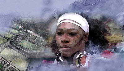 Serena Williams Wall Art - Painting - Sports 219 by Jani Heinonen