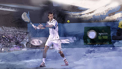 Djokovic Painting - Sports 6 by Jani Heinonen