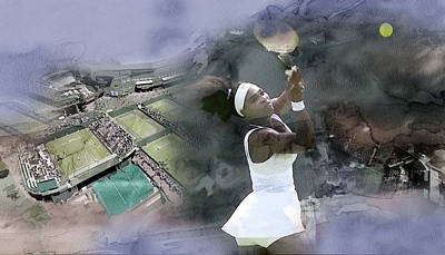 Serena Williams Painting - Sports 999 by Jani Heinonen