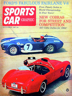 Photograph - Sports Car Graphic Mag 1965 by David Lee Thompson