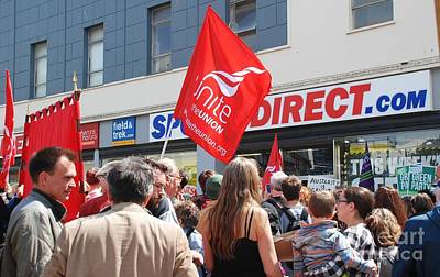 Photograph - Sports Direct Protest At Hastings by David Fowler