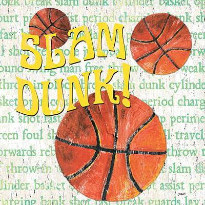 Charge Painting - Sports Fan Basketball by Debbie DeWitt