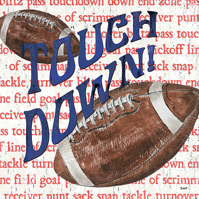 Sports Fan Football Art Print by Debbie DeWitt
