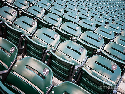 Bleachers Photograph - Sports Stadium Seats Photo by Paul Velgos