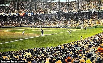 Painting - Sportsman's Park In St. Louis Mo 1943 by Dwight Goss