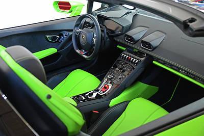 Photograph - Sporty Lamborghini Interior by Mike Martin