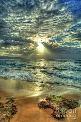 Photograph - Spot Light North Shore Sunset Oahu Hawaii Art by Reid Callaway