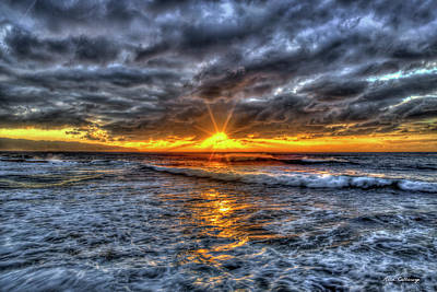 Photograph - Spot On North Shore Sunset Oahu Hawaii Art by Reid Callaway