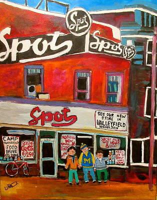 Spot Supermarket Lachine 1950's Original by Michael Litvack