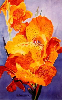 Spotted Canna Art Print by M Diane Bonaparte