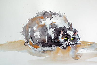 Painting - Spotted Cat by Kovacs Anna Brigitta