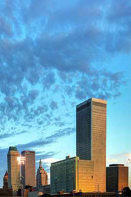 Photograph - Spotted Clouds Over The Tulsa Skyline by Gregory Ballos