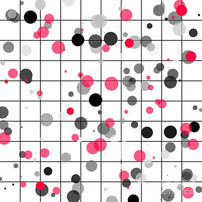 Dots And Lines Digital Art - Spotted Geometric Pattern by Gaspar Avila