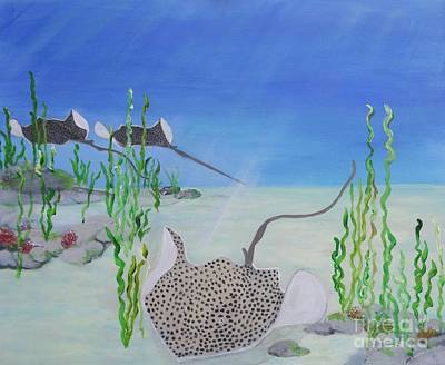 Painting - Spotted Ray by Karen Jane Jones