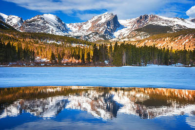 Mountain Royalty-Free and Rights-Managed Images - Sprague Lake by Darren  White