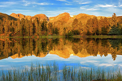 Photograph - Sprague Lake - Morning Glow by Expressive Landscapes Fine Art Photography by Thom