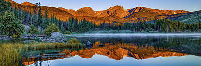 Photograph - Sprague Lake Morning Mountain Landscape Panorama by Gregory Ballos