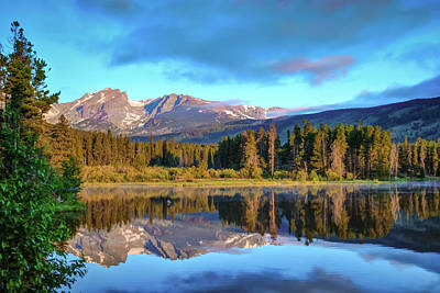 Photograph - Sprague Lake Morning Reflections - Rocky Mountain National Park by Gregory Ballos