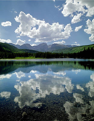 Photograph - 310204-sprague Lake Reflect  by Ed  Cooper Photography