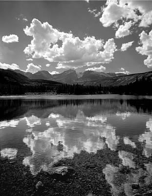 Photograph - 310204-bw-sprague Lake Reflect Bw  by Ed  Cooper Photography