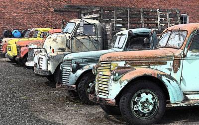 Sprague Trucks Art Print by Brent Easley