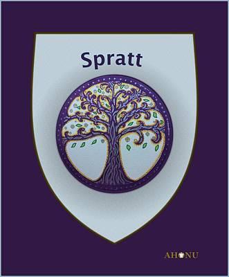 Spratt Family Crest Art Print