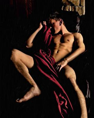 Painting - Sprawled In Luxury  by Troy Caperton